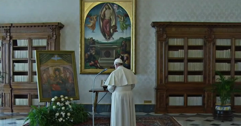 Pope Francis' Prayer For Mary's Protection For Us Against Corona Virus