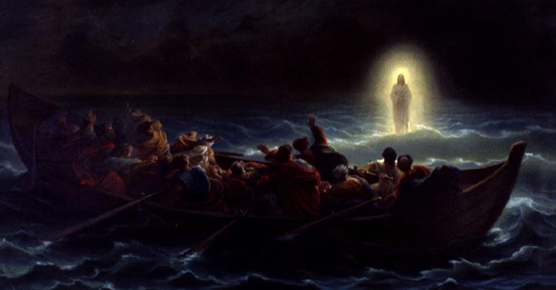 Jesus walking on water meaning